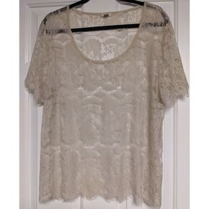 Fossil Sheer Lace Tee